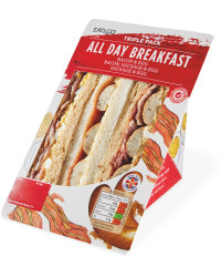All Day Breakfast Triple Sandwich