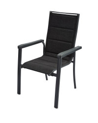 Aluminium Dining Chair Black