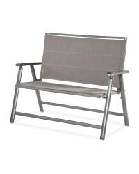 Grey & Beige Aluminium Garden Bench