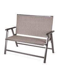 Aluminium Grey/Beige Garden Bench