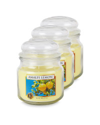 Amalfi Lemon Jar Candle 3 Pack
