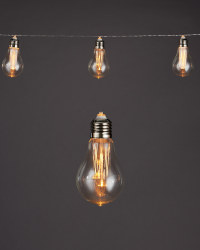 Amber Filament Solar String Lights