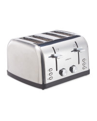 Ambiano 4 Slice Ombre Toaster - Silver