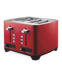 Ambiano 4 Slice Toaster - Red