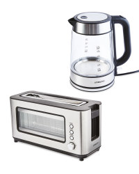 Ambiano Glass Kettle & Toaster Set