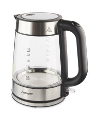 Ambiano Glass Kettle 1.7L - Stainless Steel