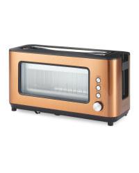 Ambiano Glass 2 slice Toaster - Copper