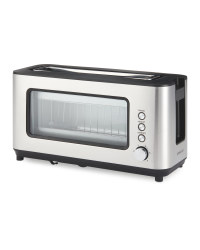 Ambiano Glass 2 slice Toaster - Stainless Steel