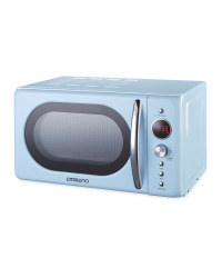 Ambiano Light Blue Retro Microwave