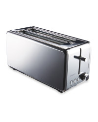 Ambiano Premium Long Slot Toaster - Stainless Steel