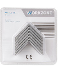 Workzone 12 Piece Angle Bracket Set