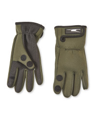 Anglers Neoprene Gloves Green