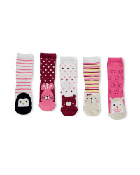 Animal Print Children's Socks 5 Pack
