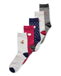 Avenue Animals Ladies 5-Pack Socks