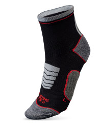 Ankle Length Cycling Socks - White & Black