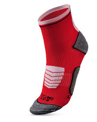 Ankle Length Cycling Socks - Hibiscus & White