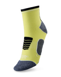 Ankle Length Cycling Socks - Yellow & Black
