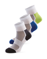Ankle Socks 3 Pack  - green/blue/black