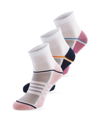 Ankle Socks 3 Pack  - pink/blue/rose
