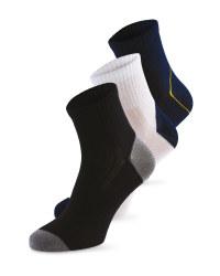 Socks 3 Pack blue/white/black 9-11