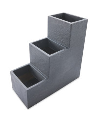 Anthracite Cube Planter Stairs