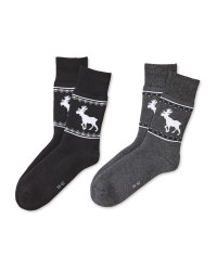 Anthracite Mountain Socks 2 Pack