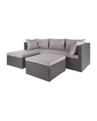 Anthracite Rattan Corner Sofa