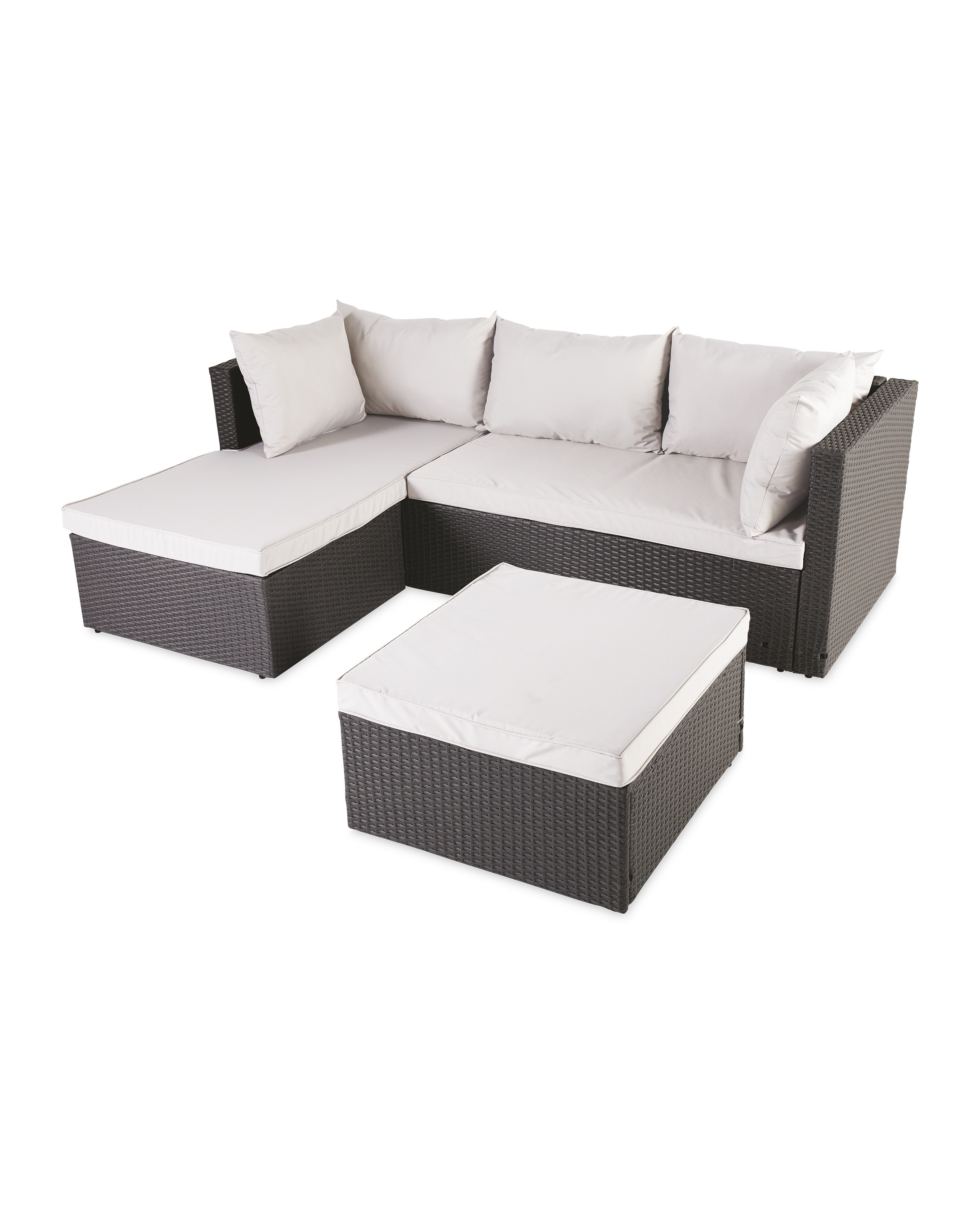 Rattan Effect Anthracite Corner Sofa 2020 Aldi Uk