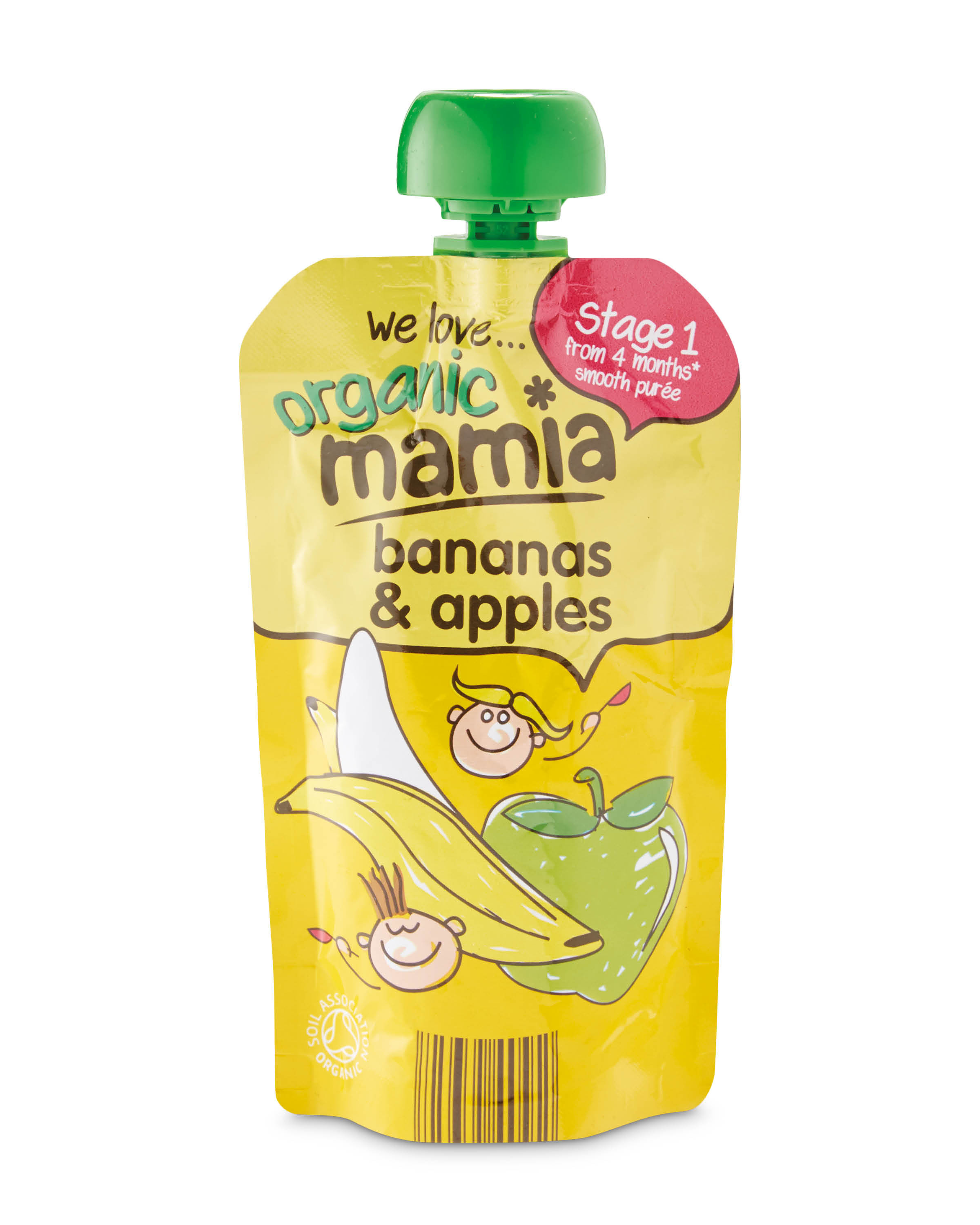 ce91d10dfc6a2 Banana & Apples Stage 1 Pouch
