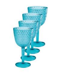 Aqua Picnic Wine Glasses 4 Pack
