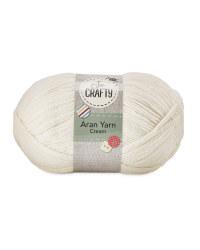 So Crafty Aran Knitting Yarn - Cream