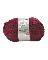 So Crafty Aran Knitting Yarn - Fuschia