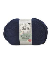 So Crafty Aran Knitting Yarn - Navy Blue