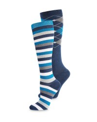 Argyle/ Stripes Riding Socks 2-Pack