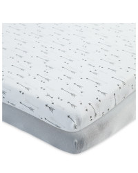 Arrow Fitted Cot Sheet 2 Pack