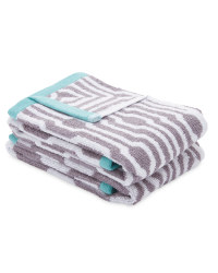 Kirkton House Art Deco Towel 2-Pack