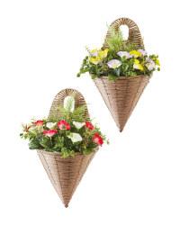 Artificial Flower Wall Basket