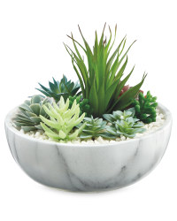 Artificial Plant in Marble Style Pot