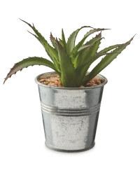 Artificial Sansevieria Metal Pot