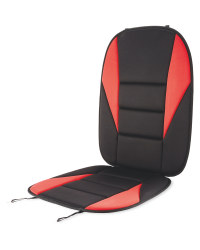Auto XS Car Seat Overlay - Red/Black