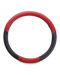 Auto XS Steering Wheel Cover - Red