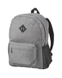 Avenue Cross Hatch Backpack - Grey