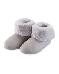 Avenue Grey Slipper Boots