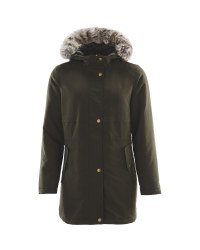 Avenue Khaki Ladies Parka Jacket