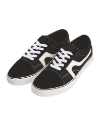 Avenue Ladies' Black Canvas Trainers