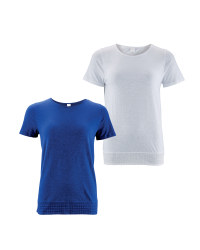 Avenue Ladies' Crochet Hem T-Shirt