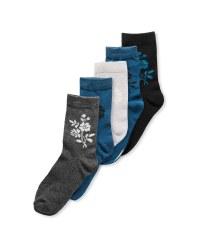 Avenue Ladies' Floral Socks 5 Pack