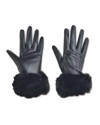 Avenue Ladies' Fur Leather Gloves