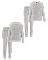 Avenue Ladies' Glitter Spot Pyjamas