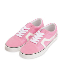Avenue Ladies' Pink Canvas Trainers